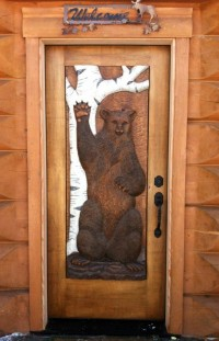 "Waving Bear ""Entrance Door"""