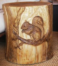 Stool With Squirrel