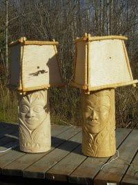 Birch Prince Lamp and Princess Lamp