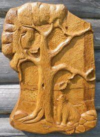 Bear Cub With Oak Tree