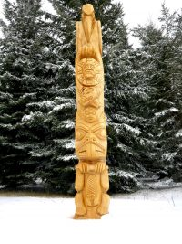 White Coat Medicine Man Totem